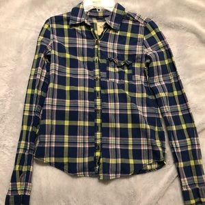 Blue Hollister Long Sleeve Flannel